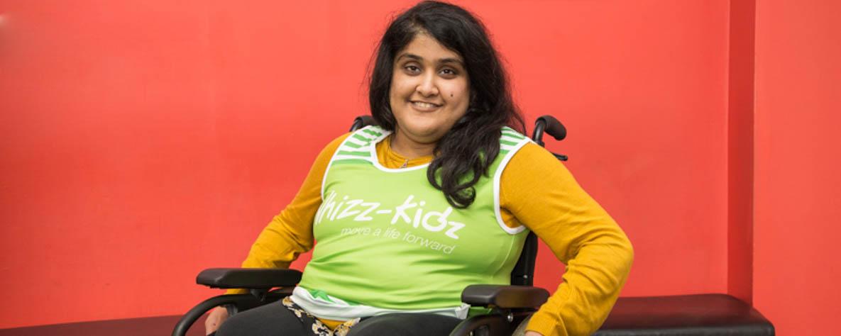 Ayesha Khan pictured in her Whizz Kidz kit.