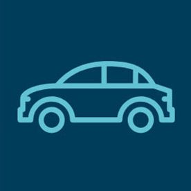 car icon with dark blue background