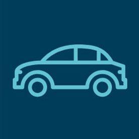 car icon with dark blue background
