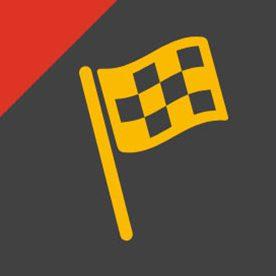 yellow flag icon on grey background