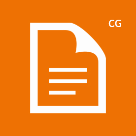 CG icon orange