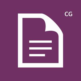 CG icon purple