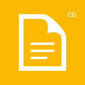 CG icon yellow
