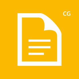 CG icon yellow