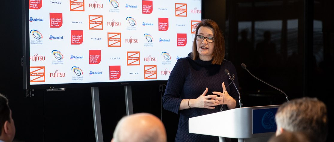 Kirsty Williams AM: Education Minister at launch of Cyber College Cymru