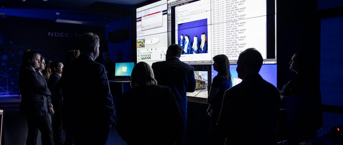 Students at Cyber College Cymru launch