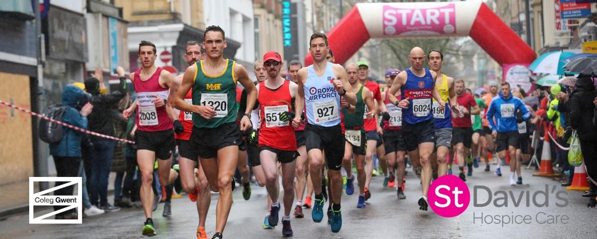 Newport half marathon runners