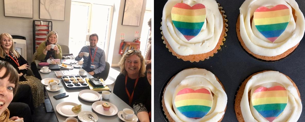 Coleg Gwent stafff celebrate LGBTQ history month