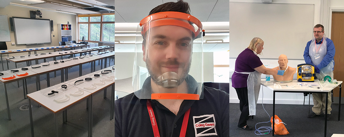 3D printed visors and fast track training