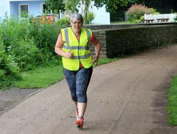 Catherine Spencer running