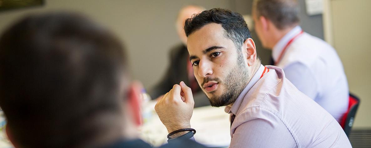 Hamed Amiri talking