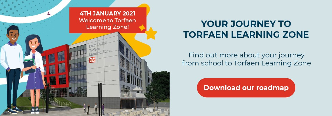 Your journey to Torfaen Learning Zone - Download our roadmap
