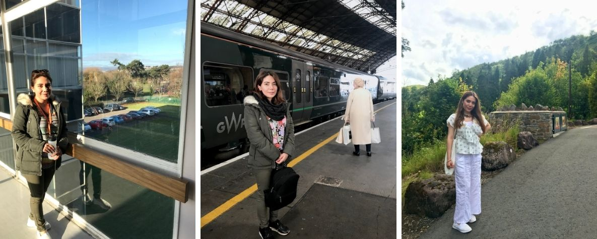 Melika Ghorbankhani enjoying Newport and the surrounding areas