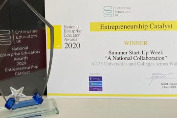 Entrepreneurship Catalyst award and certificate