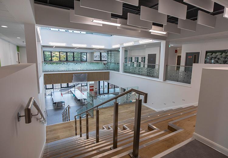 Torfaen Learning Zone stairway