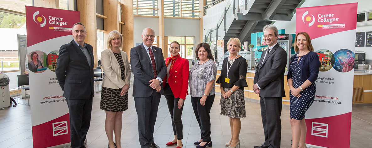 Staff at Career Colleges launch