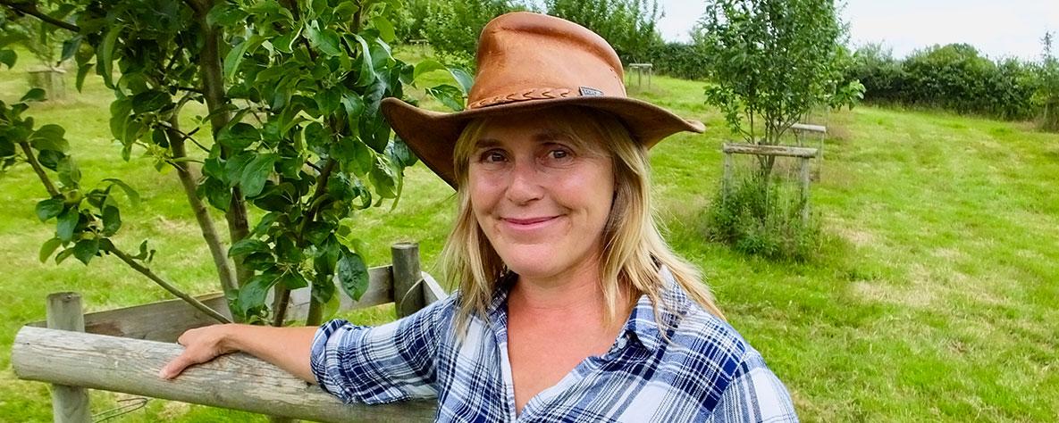 Kate Beavan in a field
