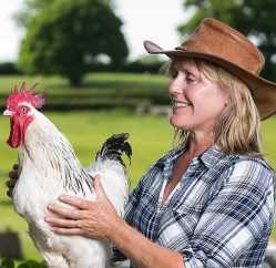 Kate Beavan with Rooster