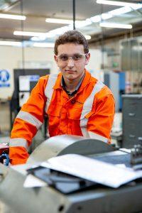 Apprentice Harry in the workshop