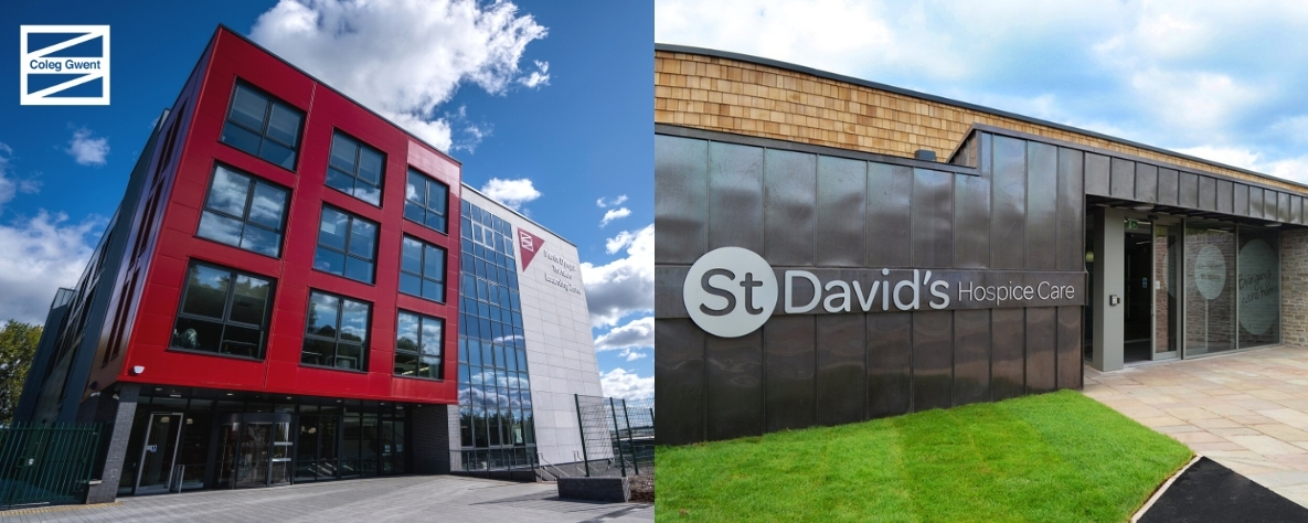 Coleg Gwent Torfaen Learning Zone and St Davids Hospice Care buildings