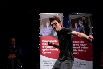Matthew dancing at Strictly Cymru