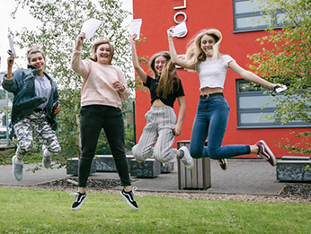 A level learners jumping at results day