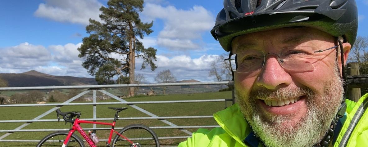 John Sexton's bike ride for St David's Hospice Care
