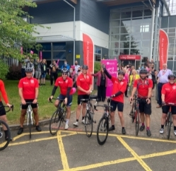 Coleg Gwent EAS #ExtraMile challenge for St David's Hospice Care