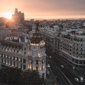 View of Madrid skyline