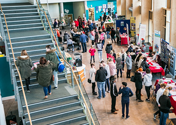 Visitors at open event