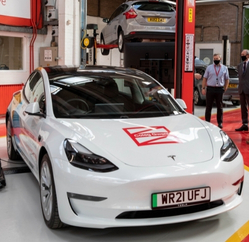 New-Tesla-in-Engineering-and-Automotive-department-at-Coleg-Gwent